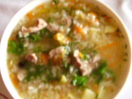 Przepis: Zupa ryżowa na żołądkach drobiowych Heni