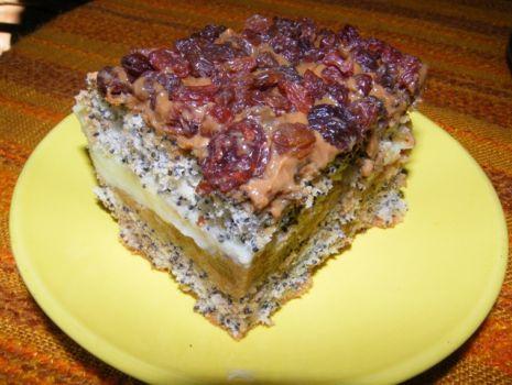 Przepis: Ciasto makowe z krówką