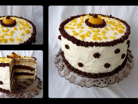 Przepis: Brzoskwiniowy tort 'Fantazja'