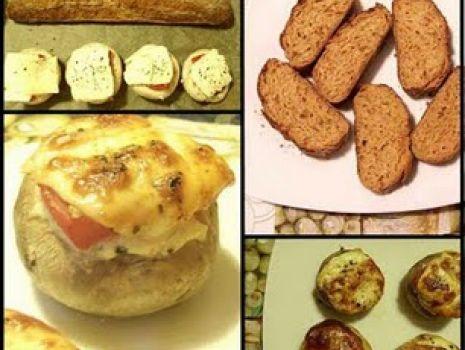 Przepis: Zapiekane pieczarki z pomidorem i kozim serem