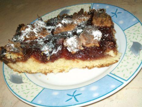 Przepis: ciasto z dzemem śliwkowym