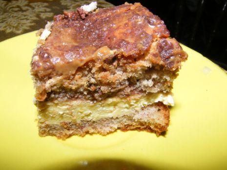 Przepis: Ciasto z masą chałwową