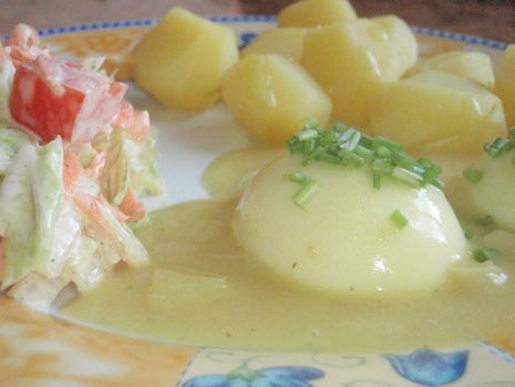 Przepis: Jajka w sosie musztardowym