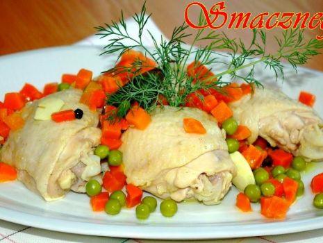 Przepis: Gotowane udka z warzywami :-)