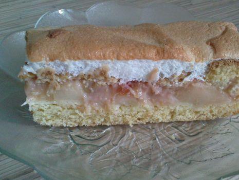 Przepis: Ciasto z rabarbarem i budyniem