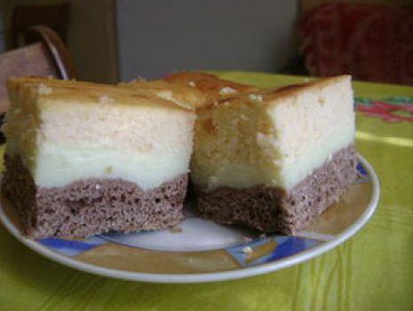 Przepis: Ciasto budyniowo-serowe