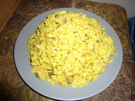 Przepis: Ryż curry z pieczarkami