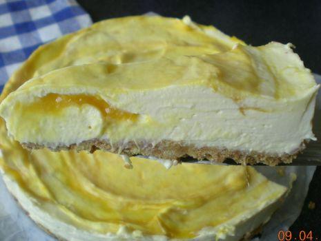 Przepis: Sernik z mango i biala czekolada