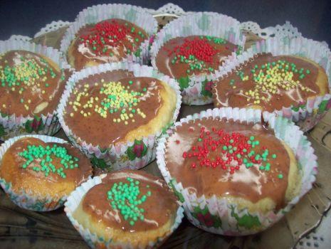 Przepis: Muffinki z lukrem kakaowym
