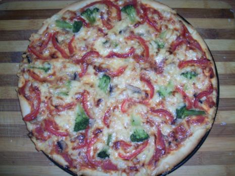 Przepis: Pizza wegetariańska z brokułem