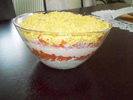 Przepis: warstwowa sałatka