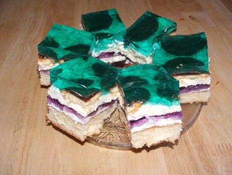 Przepis: Ciasto z turkusową galaretką