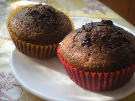 Przepis: Muffiny bardzo czekoladowe