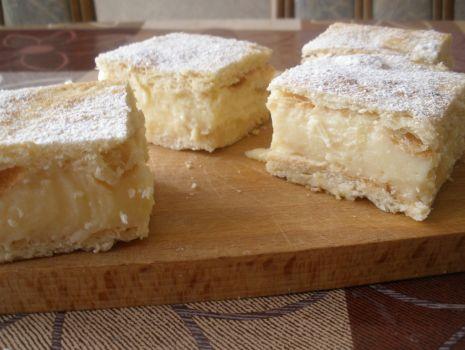 Przepis: Ciastka a'la kremówki