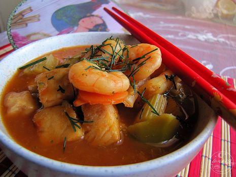 Przepis: Zupa rybna z chińskim sosem