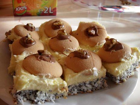 Przepis: Ciasto makowo-kokosowe