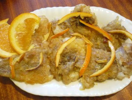 Przepis: Ryba w pomarańczach