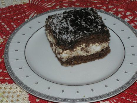 Przepis: Ciasto czekoladowe z wkladka kokosowa