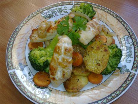 Przepis: Warzywa z ziołami i kurczakiem