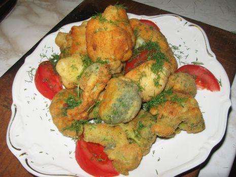 Przepis: Kalafior i brokuł w złocistej panierce
