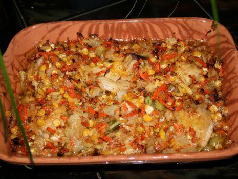 Przepis: Kurczak zapiekany z warzywami