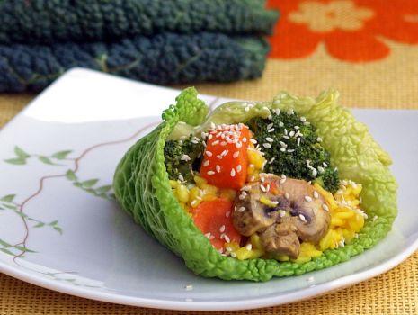 Przepis: rożek warzywno-ryżowy