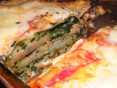Przepis: Cannelloni ze szpinakiem i łososiem