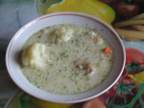 Przepis: Zupa Kalafiorowa z koperkiem