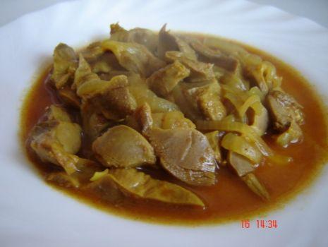 Przepis: Żołądki w curry