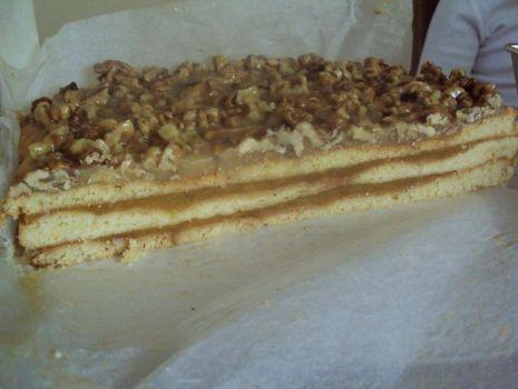 Przepis: Ciasto orzechowo-jabłkowe