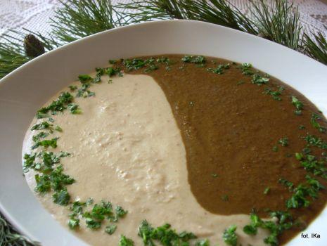 Przepis: Zupa-krem z borowików w dwóch kolorach