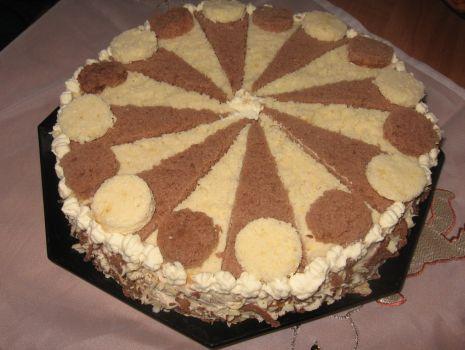 Przepis: tort czarno biały