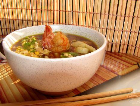Przepis: Zupa rybna z sosem sojowym