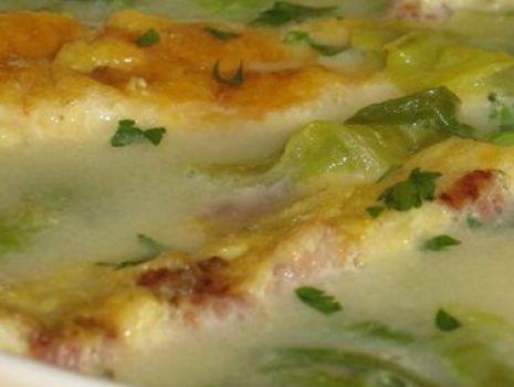 Przepis: Zupa z sałaty z omletem