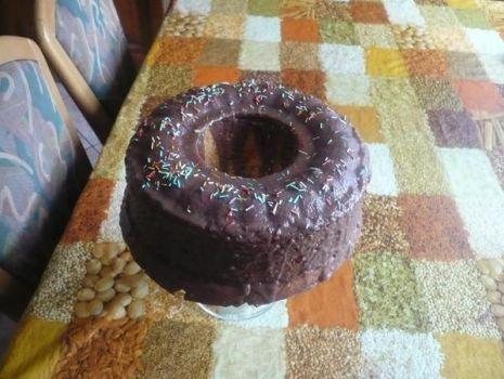 Przepis: Pyszna Babka w polewie czekoladowej.