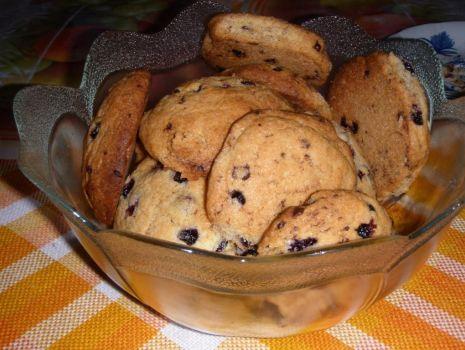 Przepis: Ciasteczka z czekoladą i jagodami