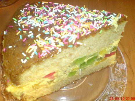 Przepis: ciasto z kremem krówkowym
