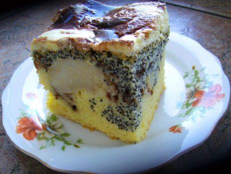 Przepis: Ciasto fale dunaju z jabłkami i makiem
