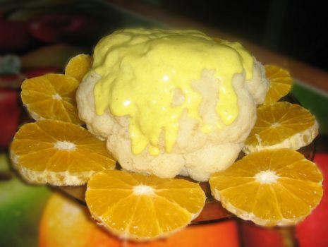 Przepis: Kalafior z pomarańczami w sosie curry