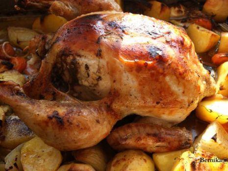 Przepis: Kurczak w warzywach