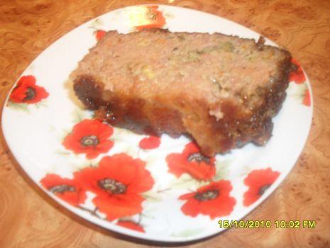 Przepis: Pieczeń z mięsa mielonego z brokułami