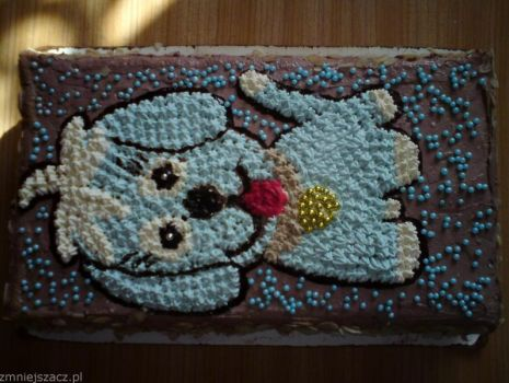Przepis: Tort niebieski piesek