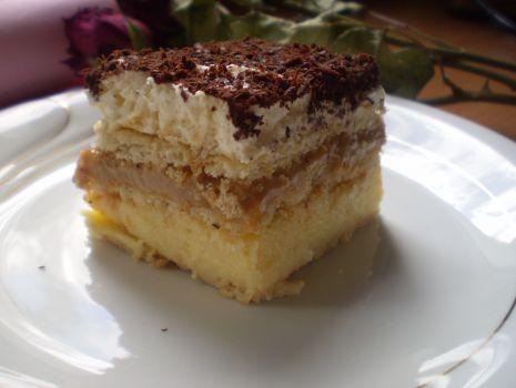Przepis: Ciasto budyniowo-karmelowe (3bit)