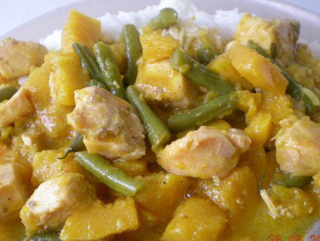 Przepis: Curry z lososiem