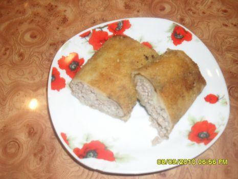 Przepis: Krokiety z miesem i pieczarkami
