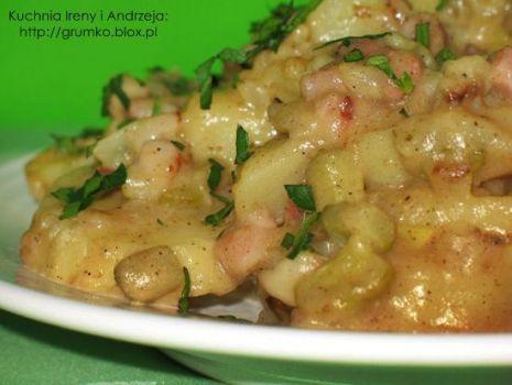 Przepis: Sałatka z ziemniaków na ciepło