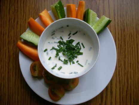 Przepis: Dip z warzywami