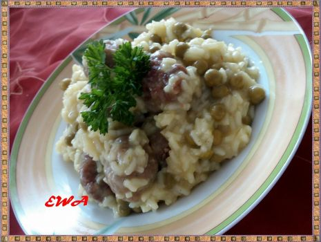 Przepis: Orzeszki mięsne ala risotto