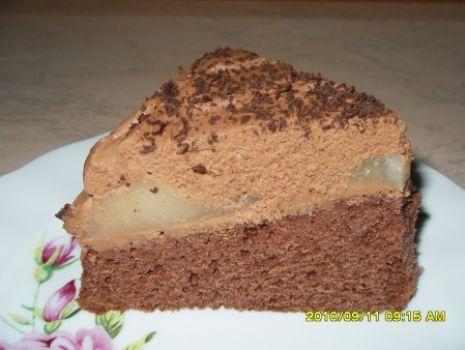 Przepis: Czekoladowe ciasto z gruszkami