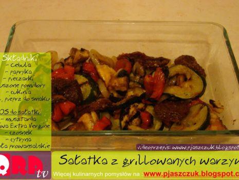 Przepis: Sałatka z grillowanych warzyw